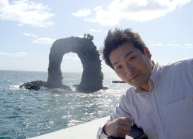 奥尻島の鍋つる岩にて